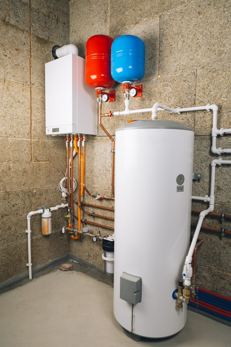 Water heater in home