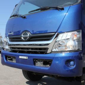 blue hino truck grill