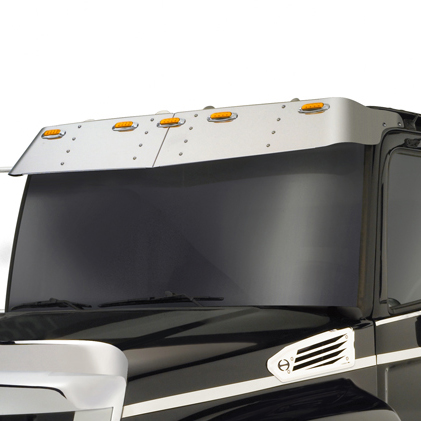 sun visor attached to truck