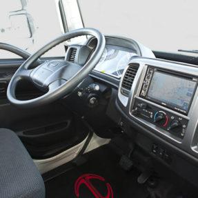 interior of truck cab