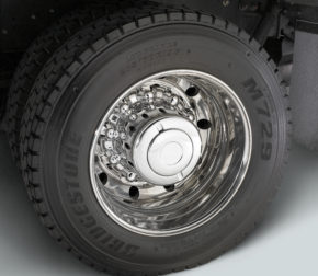 rear wheel of truck