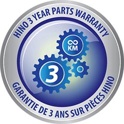3 year parts warranty